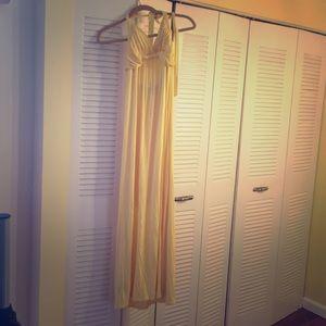 Dress maxi w slip sewed in